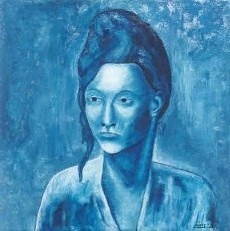 Lady in Blue van Andy Arnts