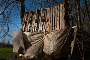 Een echte hut op een onzichtbaar plekje. Foto van Fotoburo De Toeren